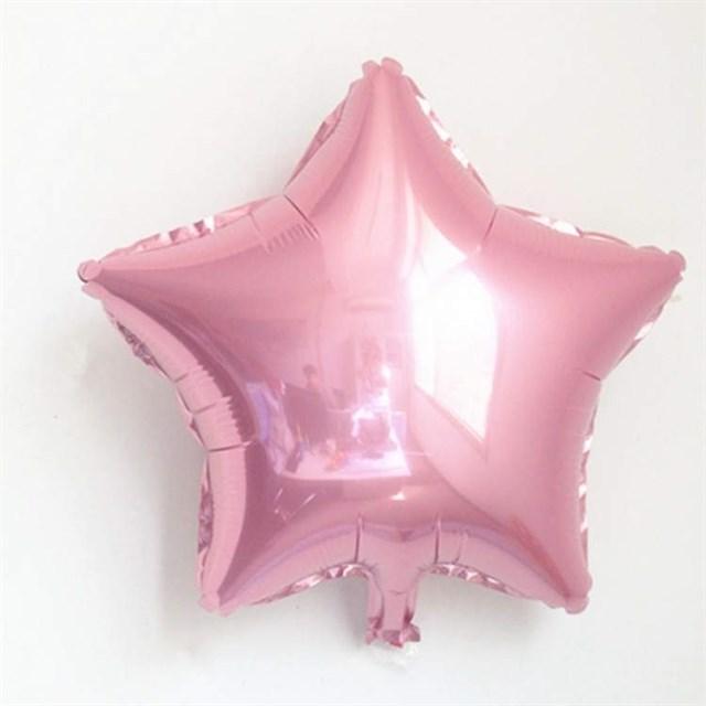 Воздушный шар Pink звезда 18 дюймов - фото 5444