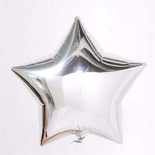 Воздушный шар Silver звезда 18 дюймов - фото 5449