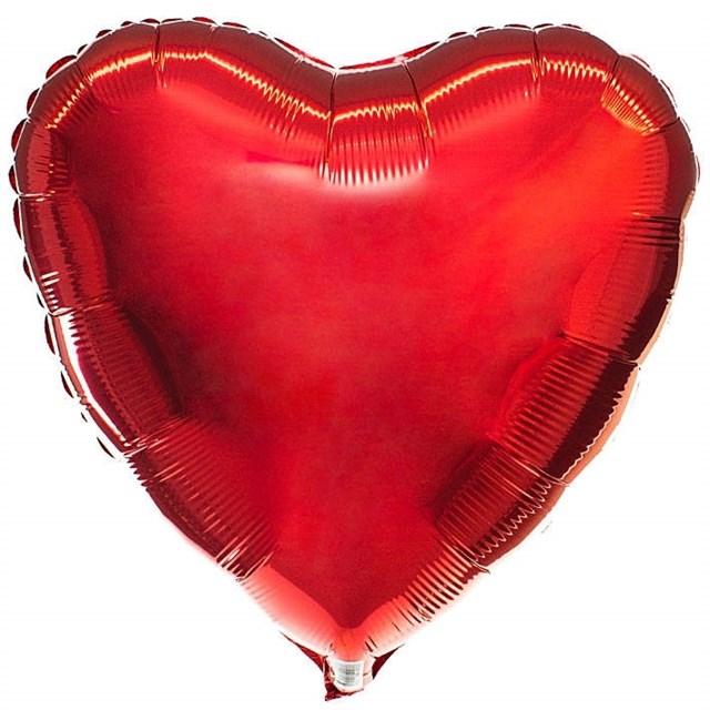 Воздушный шар Red сердце 18 дюймов - фото 5479