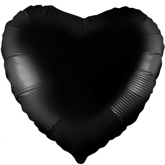 Воздушный шар Black сердце 18 дюймов - фото 5484