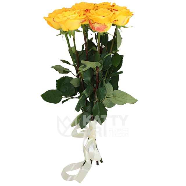 Букет из 7 желтых роз 60см(Эквадор) - фото 5489