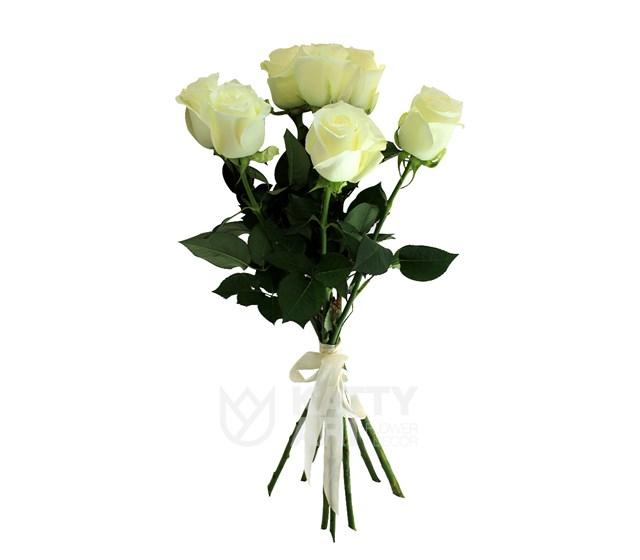 Букет из 7 белых роз 60см(Эквадор) - фото 5589