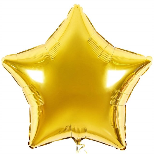 Воздушный шар Gold звезда 18 дюймов - фото 5808