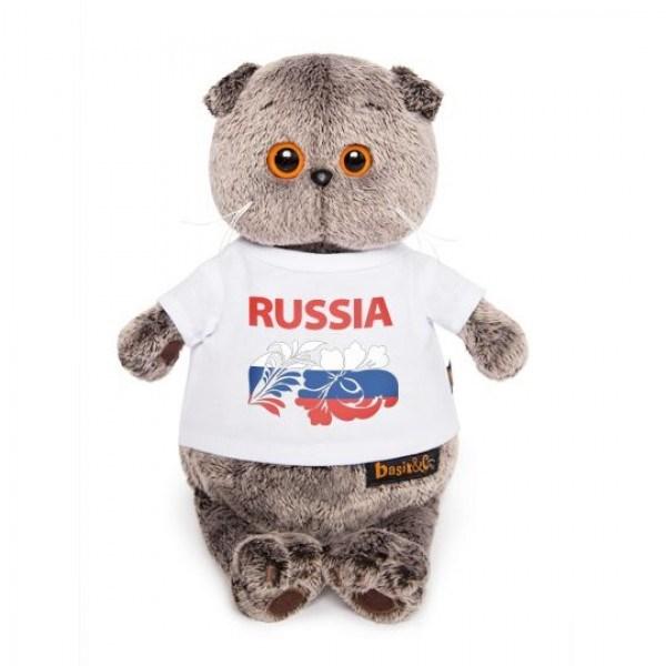 """Басик в футболке с принтом """"Россия"""" (22см) - фото 6029"""