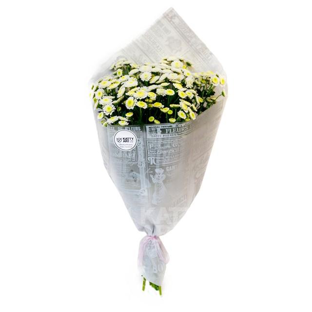 Букет хризантема кустовая (7шт) - фото 6053