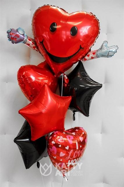 """Композиция из шаров """"Сердечная любовь"""" - фото 6134"""