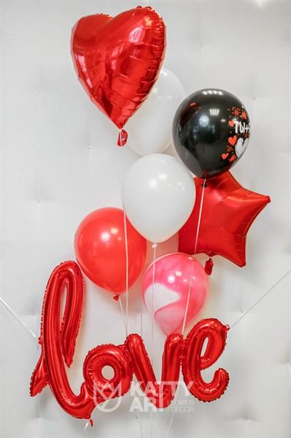 """Композиция из шаров """"Love"""" - фото 6136"""