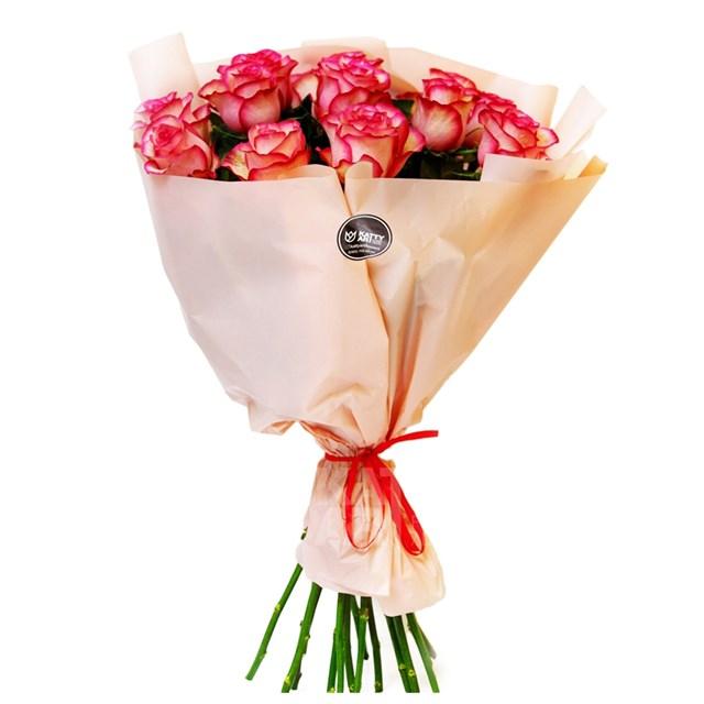 Роза Эквадор 60см двухцветная (35 шт) - фото 6191