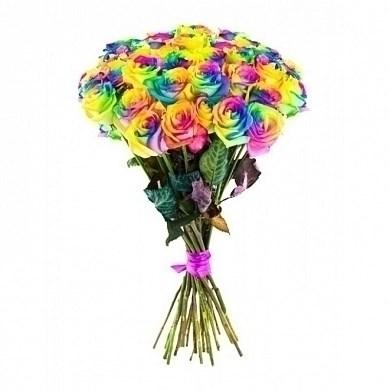 Радужная роза 60см  (Эквадор) - фото 6395