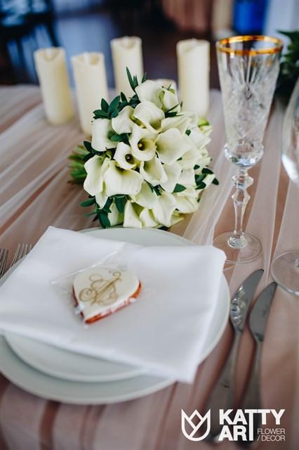 Свадебный моно-букет - фото 7340
