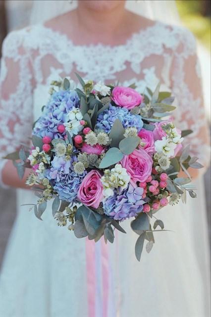 Букет невесты нежное облако - фото 7824