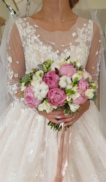 Свадебный букет воздушный - фото 7830