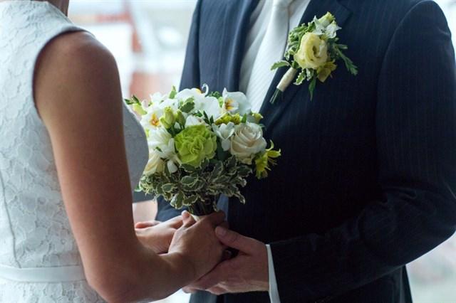 Свадебный букет момент - фото 7835