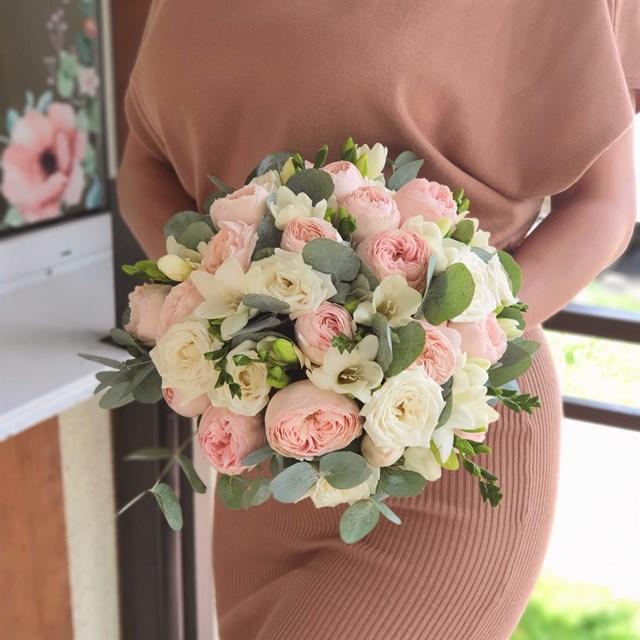 Свадебный букет прекрасное начало - фото 7839