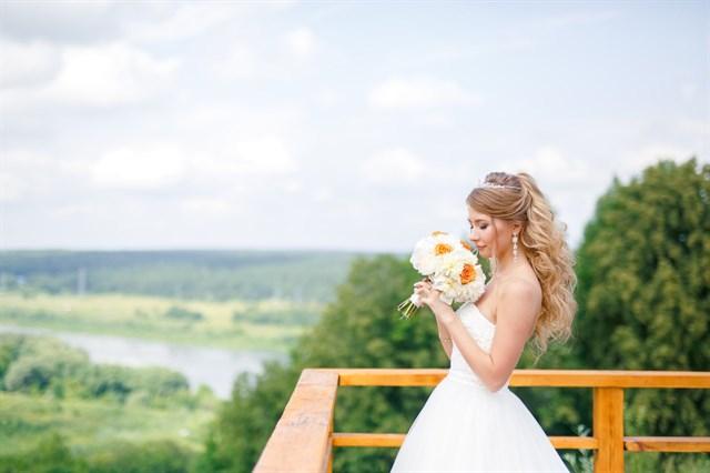Свадебный букет очарование - фото 7845