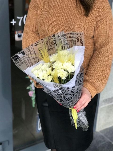 Хризантема в упаковке - фото 8240