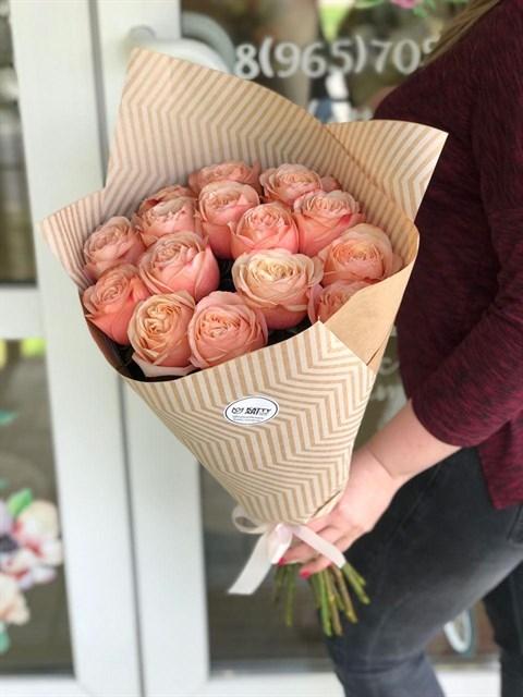 Букет из пионовидных роз - фото 8299