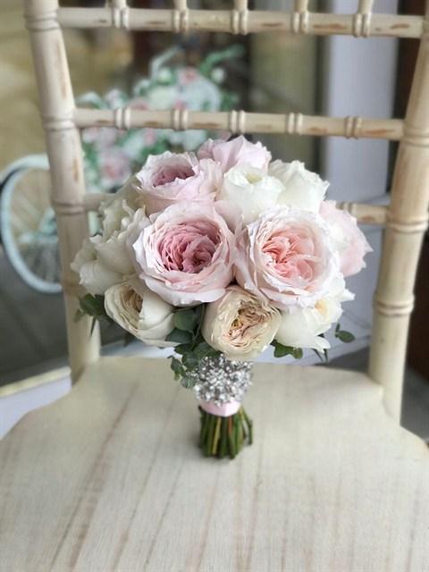 Букет невесты Романтичный розовый - фото 8534