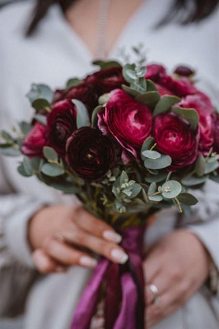 Букет невесты Ежевичная осень - фото 8591