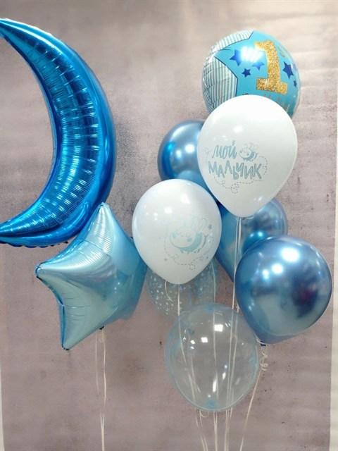 """Композиция из шаров """"Первый день рождения"""" - фото 8865"""