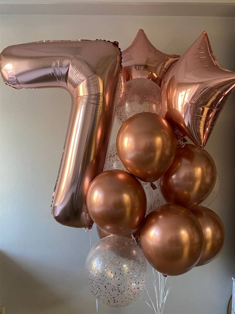 Композиция из шаров 7 лет - фото 8897
