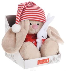 Мягкая игрушка зайка Ми в красной пижаме (23см.)