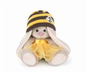 Мягкая игрушка зайка Ми в шапке пчелка (15см)