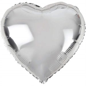 Воздушный шар Silver сердце 18 дюймов