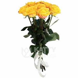 Букет из 9 желтых роз 60см(Эквадор)