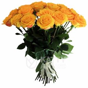 Букет из 25 желтых роз 60см(Эквадор)