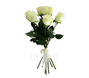 Букет из 7 белых роз 60см(Эквадор)