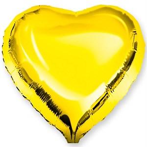 Воздушный шар Gold сердце 18 дюймов