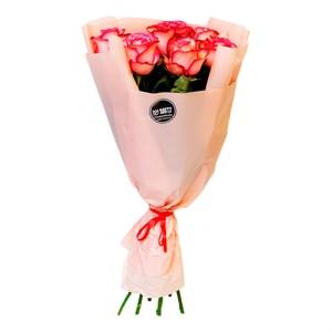 Роза Эквадор 60см двухцветная (7шт)