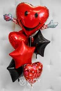 """Композиция из шаров """"Сердечная любовь"""""""