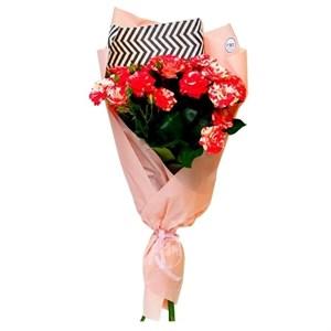 Букет из 25 кустовых роз Файер вокс
