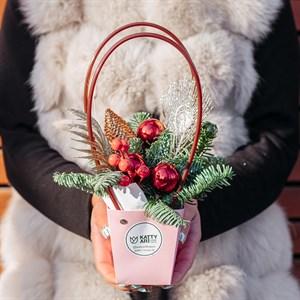 Зима в розовой сумке