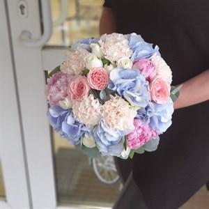 Свадебный букет чистая лазурь