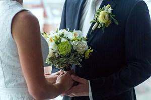 Свадебный букет момент