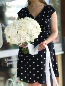 Белое облако букет невесты