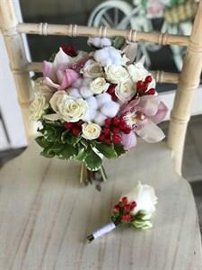 Букет невесты Нежные ягоды