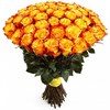 Букет из 25 желтых роз 60см(Эквадор) - фото 5547