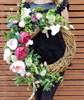 Венок из декоративных цветов - фото 7356